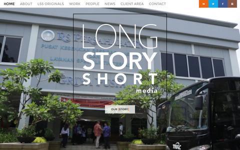Screenshot of Home Page lssmedia.com - Long Story Short Media - Long Story Short Media Home - Long Story Short Media - captured Jan. 29, 2016