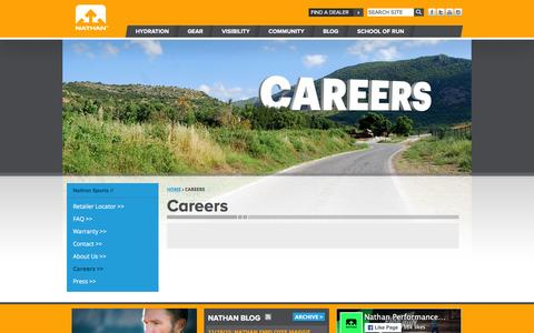 Screenshot of Jobs Page nathansports.com - Careers | Nathan Sports - captured Dec. 28, 2015