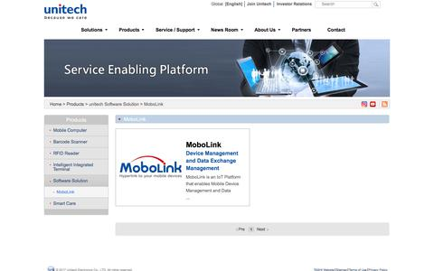 Screenshot of Products Page ute.com - unitech Software Solution > MoboLink - captured June 22, 2017