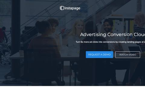 Screenshot of Landing Page instapage.com - Instapage Advertising Conversion Cloud - captured Nov. 9, 2018