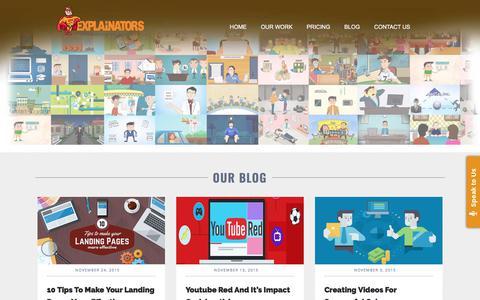 Screenshot of Blog ipromovideos.com - Blog - Best Animated Explainer Videos Production Company - captured Sept. 20, 2018