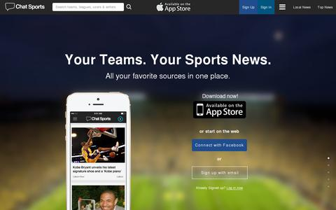Screenshot of Home Page chatsports.com - Chat Sports | America's Sports Page - captured July 17, 2014