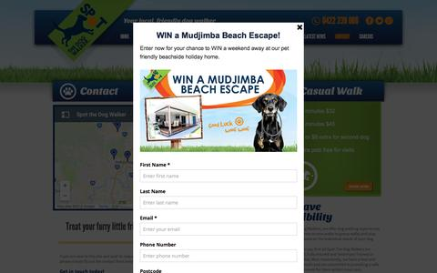 Screenshot of Contact Page spotdogwalk.com.au - Contact Spot the Dog Walker   Spot The Dog Walker - captured Dec. 3, 2016