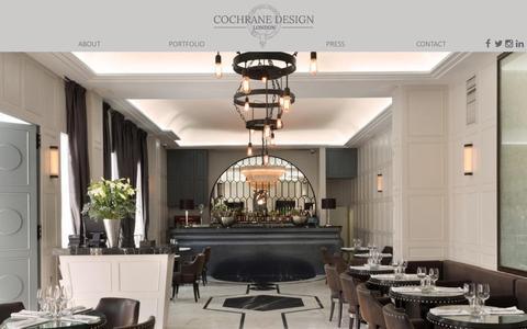 Screenshot of Home Page cochranedesign.com - Home - Cochrane Design - captured Sept. 4, 2015