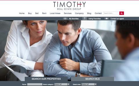 Screenshot of Jobs Page timothyrealestategroup.com - Careers - Timothy Real Estate GroupTimothy Real Estate Group - captured Sept. 19, 2014