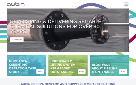 Screenshot of Home Page aubingroup.com - Aubin Group - Aubin Group - captured July 31, 2018