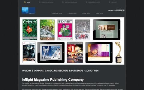 Screenshot of Home Page agencyfish.com - Inflight & Corporate Magazine Designers & Publishers - Agency Fish - agencyfish.com - captured Oct. 4, 2014