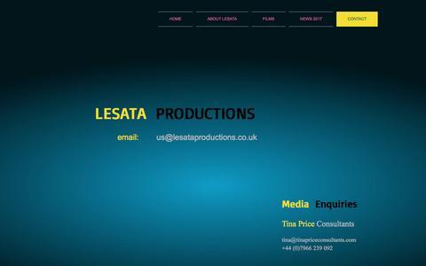 Screenshot of Contact Page lesataproductions.co.uk - Lesata contacts - captured March 23, 2017