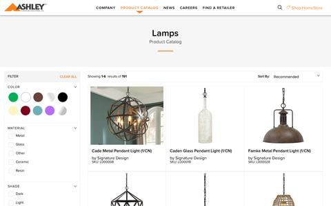 Lamps - Corporate Website of Ashley Furniture Industries, Inc.