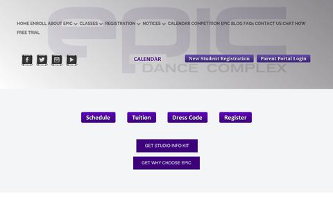 Screenshot of Trial Page epicdancecomplex.com - FREE TRIAL - captured Sept. 28, 2018