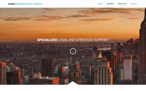 Screenshot of Home Page global-bls.com - Global Business Legal Support - Specialized legal and strategic support - captured Jan. 24, 2016