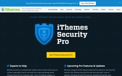 Screenshot of Support Page ithemes.com - iThemes Security Pro - captured Oct. 29, 2014