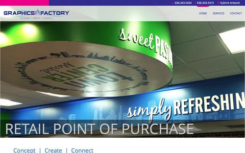 Screenshot of Home Page graphics-factory.net - The Graphics Factory - captured July 18, 2016