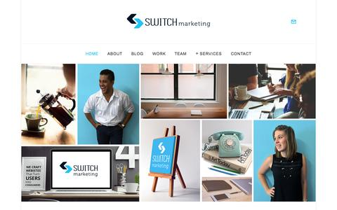 Screenshot of Home Page switchmarketing.co.za - Website Design | Logo Design | Consulting Services | Switch Marketing - captured Sept. 22, 2015