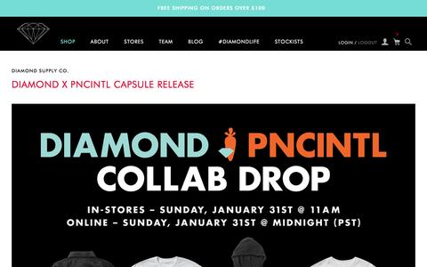 Screenshot of Blog Press Page diamondsupplyco.com - Diamond Supply Co. - captured Jan. 30, 2016