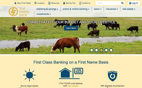 Screenshot of Home Page ffb-sd.com - First Fidelity Bank Home | We know about Neighborhood Banking - captured Sept. 23, 2018