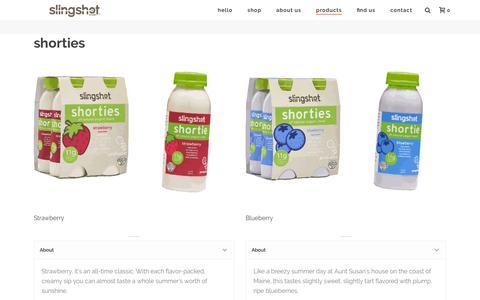Screenshot of Products Page slingshotfoods.com - Hi, we're Slingshot Foods. We make Complete Grab and Go Breakfasts. - captured Sept. 20, 2018