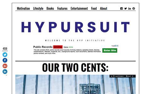 Screenshot of Home Page hypursuit.com - HyPursuit | Creativity & LifeStyle - captured Nov. 15, 2016