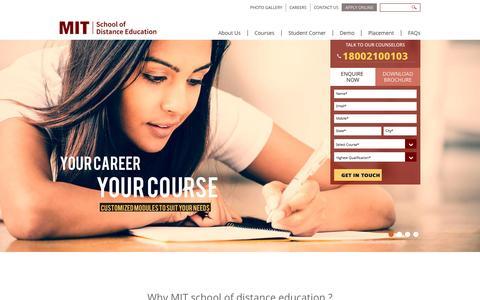 Screenshot of Home Page mitsde.com - Home - captured Oct. 1, 2015