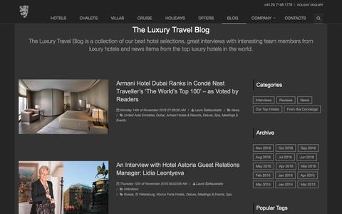 Screenshot of Blog hurlinghamtravel.co.uk - The Luxury Travel Blog - Page 1                      | Hurlingham Travel Blog - captured Nov. 15, 2016
