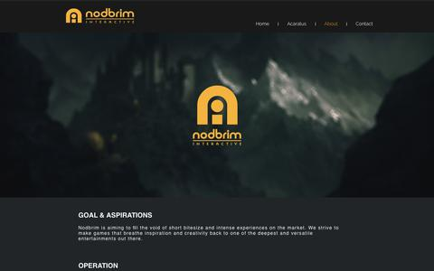 Screenshot of About Page nodbrim.com - About - captured Dec. 21, 2018