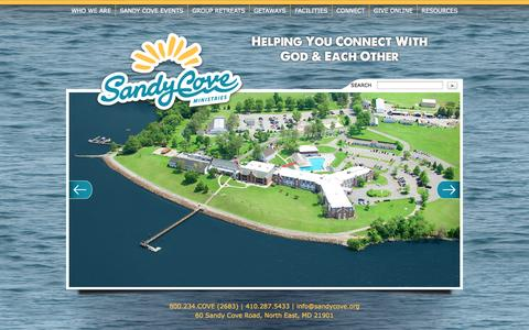 Screenshot of Home Page sandycove.org - Sandy Cove Ministries - North East, Maryland - captured Oct. 4, 2014