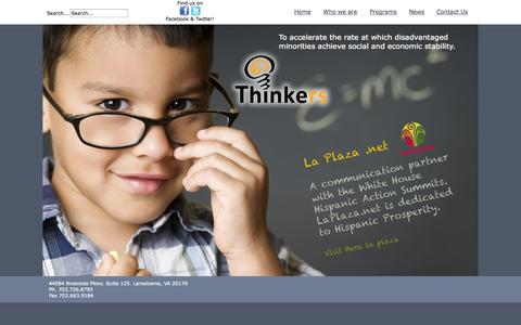 Screenshot of Home Page thinkrs.org - Home - captured Oct. 1, 2014