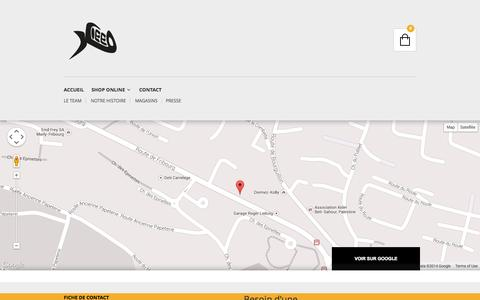 Screenshot of Contact Page kieed.ch - Kieed T-Shirts | Contactez-nous - captured Sept. 30, 2014