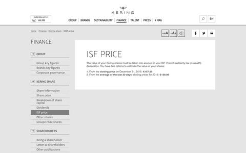 ISF price | Kering