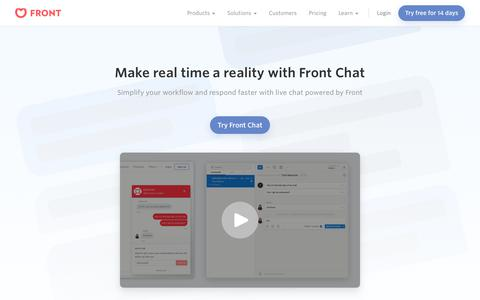 Front | Make real time a reality with Front Chat