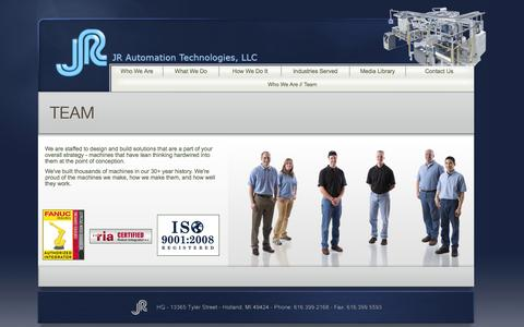 Screenshot of Team Page jrauto.com - Team | Who We Are - captured Oct. 4, 2014