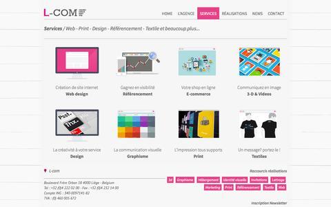 Screenshot of Services Page l-com.be - L-com | Nos services - captured Oct. 3, 2014