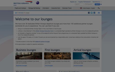 Lounges | Airport Lounge information | British Airways