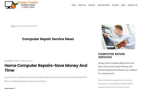 Screenshot of Press Page masleyassociates.com - Computer Repair Service News | Computer Repair Service (714)975-3656 Orange County CA - captured Dec. 6, 2016