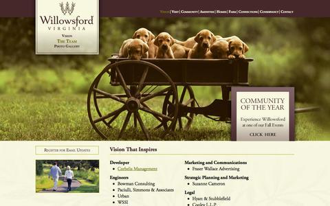 Screenshot of Team Page willowsford.com - Willowsford Virginia - Team - captured Oct. 26, 2014