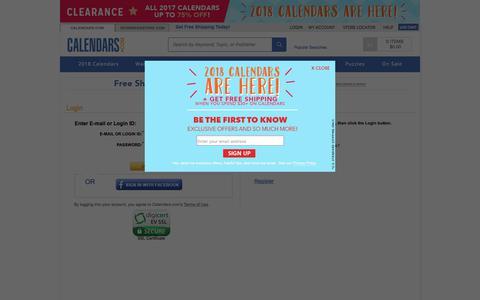 Screenshot of Login Page calendars.com - Login | Buy Calendars Online | Calendars.com - captured June 28, 2017