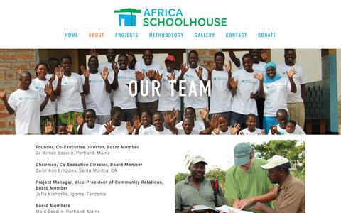 Screenshot of Team Page africaschoolhouse.org - Our Team — Africa Schoolhouse - captured May 29, 2017