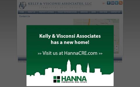 Screenshot of Contact Page kelly-visconsi.com - Contact Us | Kelly & Visconsi Associates, LLC - captured Feb. 12, 2016