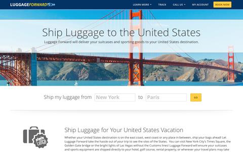 Ship Luggage to the United States | Ship to the U.S.