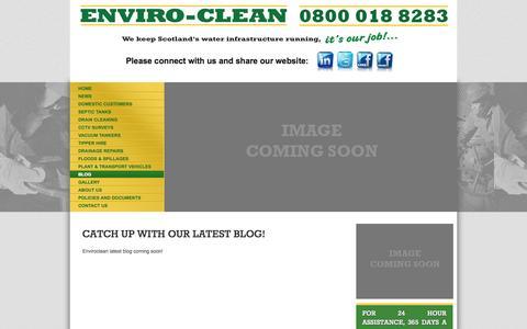 Screenshot of Blog evcsl.co.uk - Blog - Waste management, Scotland - Enviro-clean - captured Oct. 3, 2014