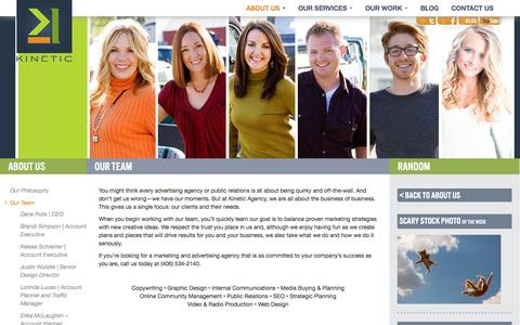 Screenshot of Team Page kineticmc.com - The Kinetic Team | Marketing and Advertising Experts - captured Oct. 6, 2014