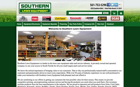 Screenshot of About Page southernlawnequip.com - Southern Lawn Equipment | About Us - captured Oct. 7, 2014