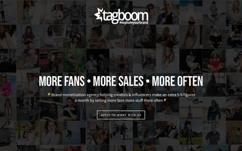Screenshot of Home Page tagboom.com - tagboom   make money on autopilot - captured Sept. 20, 2018