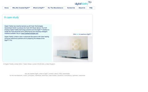 Screenshot of Case Studies Page digitalfidelity.com - Digital Fidelity UK DigiFi™ DigiFi-Dock™ IT Manufacturing Consultancy - captured Oct. 5, 2014