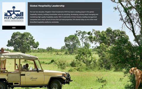 Screenshot of Home Page kingdomhotels.com - Kingdom Hotel Investments - captured Sept. 24, 2018