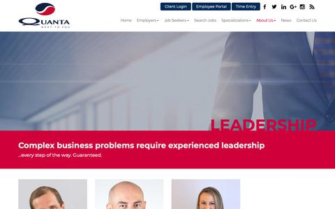 Screenshot of Team Page quanta.com - Leadership - Quanta U.S., Inc. - captured Sept. 29, 2018