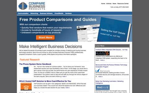 Screenshot of Home Page comparebusinessproducts.com - Free Product Comparisons and Guides   Reviews, Comparisons and Buyer's Guides - captured Sept. 23, 2014