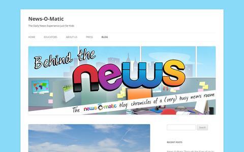 Screenshot of Blog press4kids.com - News-O-Matic | Blog - captured Sept. 10, 2014