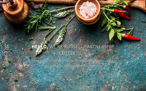 Screenshot of About Page russellpartnership.com - Food Consultant London - About Us - The Russell Partnership Collection - captured Nov. 19, 2018