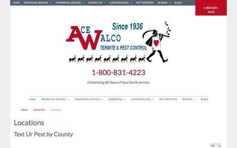 Screenshot of Locations Page acewalco.com - Locations - captured Feb. 5, 2016